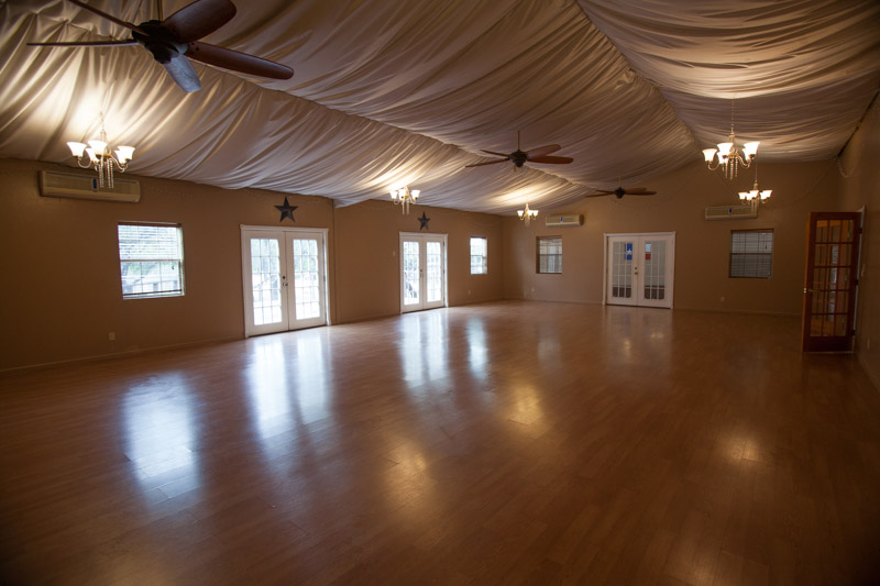 Event Hall of Lotus Ranch Retreat Center in Wimberley, Tx.