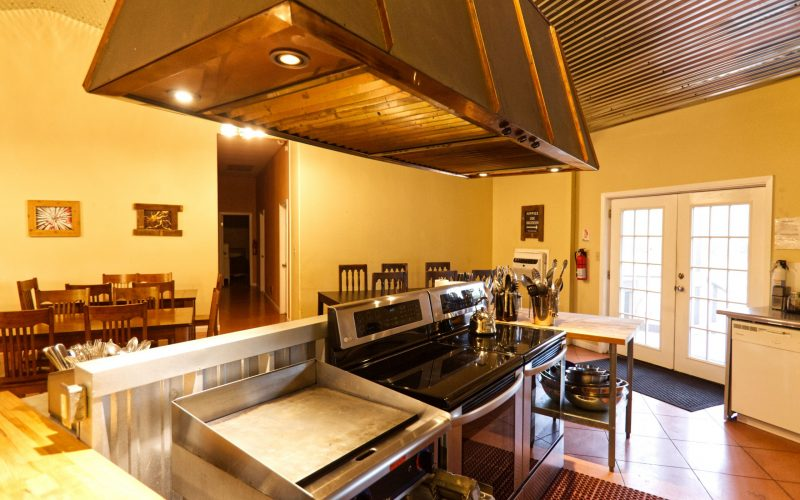kitchen at Lotus Ranch Retreat Center