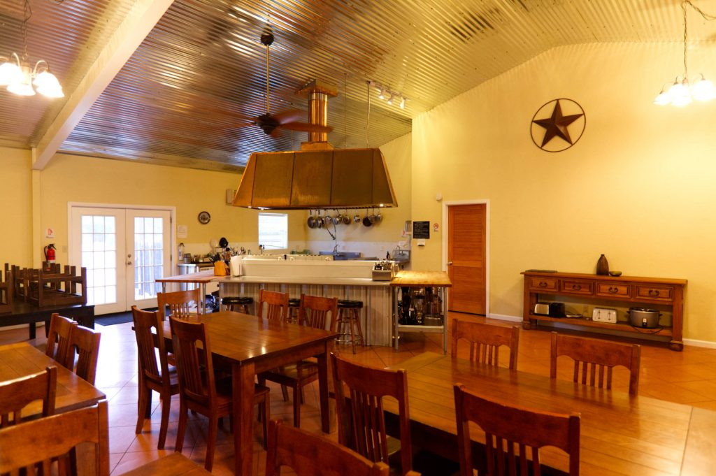 kitchen of yoga retreat center in Texas Hill Country